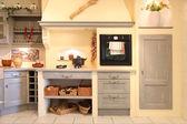 Närbild på hem kök — Stockfoto