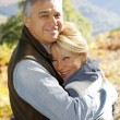 Portrait of smiling senior couple in countryside — Stock Photo #26965795