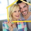 New happy property owners — Stock Photo #27877919