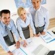 Stock Photo: Upper view of business people working in office