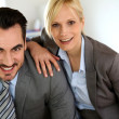 Portrait of cheerful business partners — Stock Photo #27878941