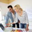 Architects working together in office — Stock Photo