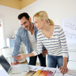Architects working together in office — Stock Photo #27879159