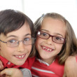 Portrait of kids wearing eyeglasses — Stock Photo