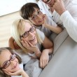 Stock Photo: Family of four wearing eyeglasses