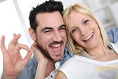 Cheerful couple having fun — Stock Photo