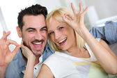 In love couple chilling out — Stock Photo