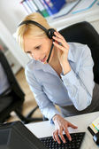 Customer service operator on the phone — Stock Photo