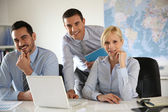 Portrait of cheerful business team — Stock Photo