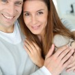 Sweet in love couple embracing each other — Stock Photo