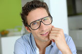 Modern guy with eyeglasses on — Stock Photo