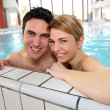 Couple having fun in spa center — Stock Photo