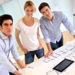 Group of architects working in office — Foto de Stock