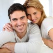 Portrait of cheerful middle-aged couple — Stock Photo #27925929