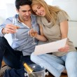Couple celebrating new home — Stock Photo