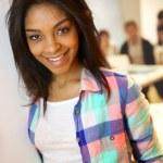 Portrait of smiling student girl — Stock Photo