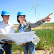 Engineers checking on industrial site — Stock Photo
