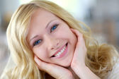 Portrait of beautiful blond woman — Stock Photo