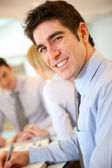 Portrait of cheerful young businessman — Stock Photo