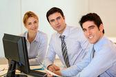 Portrait of successful business team — Stock Photo