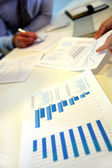Closeup on business papers set on table — Stock Photo