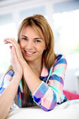 Portrait of attractive blond woman — Stock Photo