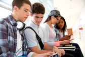 Youth and technology at school — Stock Photo