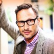 Handsome man in eyeglasses — Stock Photo