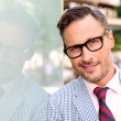 Trendy guy with eyeglasses and tie — Foto Stock