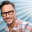 Man in stylish eyeglasses — Stock Photo