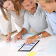 People working on business plan — Stock Photo #35253241