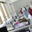 Dressmaking room in training school — Stockfoto