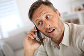 Guy talking on the phone — Stock Photo
