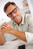 Handsome guy with eyeglasses — Stock Photo