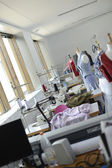 Dressmaking room in training school — Stock Photo