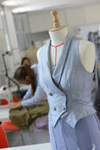 Mannequin in dressmaking room — Stock Photo