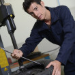 Stock Photo: Student in auto mechanics