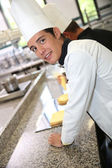 Student in pastry training course — Stock Photo