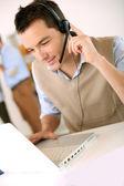 Customer service representative on the phone — Stock Photo