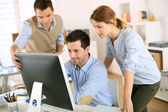 Workteam in office — Stock Photo