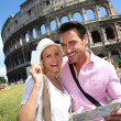 Tourists in Rome — Stock Photo
