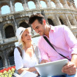 Couple in Rome — Stock Photo #35300089