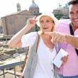 Stock Photo: Couple visiting Roman Forum