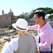 Couple visiting Roman Forum — Stock Photo