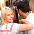 Tourists taking picture in the streets of Rome — Stock Photo #35300455