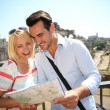 Tourists near the Roman Forum — Stock Photo