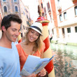 Couple of tourists in Venice — Stock Photo #35302973