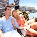 Couple in Venice having a Gondola ride — Stock Photo #35303037