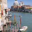 Canal grande and Basilica of Santa Maria della Salute — Stock Photo