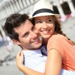 Romantic couple on Piazza San Marco — Stock Photo #35303369